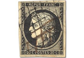 france s first ever postage stamp just 50 available