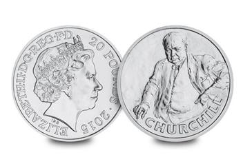 DateStamp Churchill £20 Coin