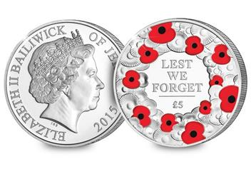 P839 2015 Remembrance Day Silver 5 Poppy Coin1 .jpg