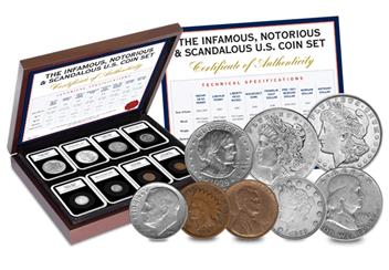 p321 Infamous, Notorious and Scandalous U.S. Coin 1