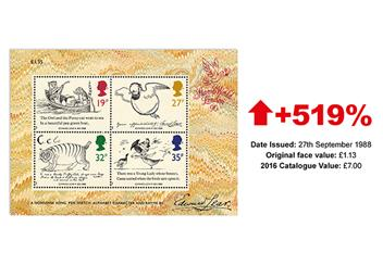 900J - Britain's First Multi-value Miniature Sheets (4)