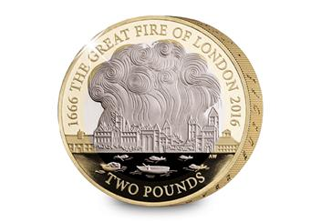 752V - 2016 Great Fire of London Silver Proof £2 (2)