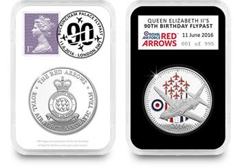 Queens 90th Red Arrows Flypast Commemorative Everslab