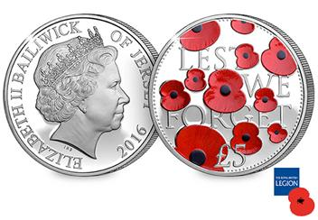 2016 Poppy Silver 5 Pound Proof Coin Obverse Reverse