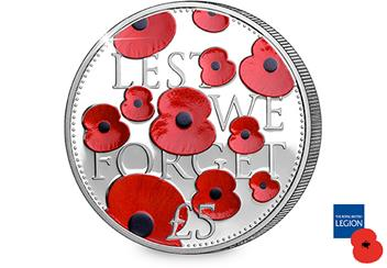 2016 Poppy Silver 5 Pound Proof Coin Reverse