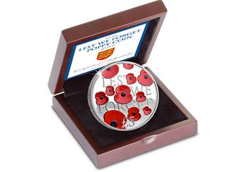 2016 Poppy Silver 5 Pound Proof Coin Box