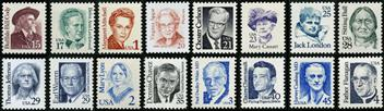 M328 Great Americans stamp set 3