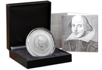 Shakespeare Silver Proof 2 Pound Box Certificate