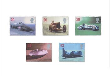 Land Sea and Air Philatelic Book stamps Cars 2