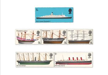 Land Sea and Air Philatelic Book stamps Ships