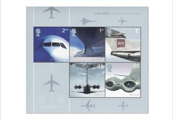 Land Sea and Air Philatelic Book stamps Aircraft 2