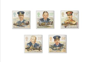 Land Sea and Air Philatelic Book stamps Pilots