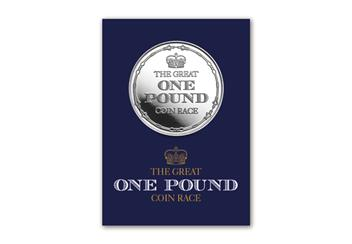 Great One Pound Coin Race Participant's Medal in Pack Front