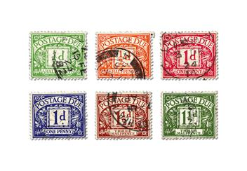 Pre Decimal Postage Due Collection Stamps 1