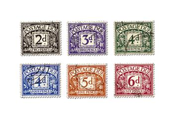 Pre Decimal Postage Due Collection Stamps 2
