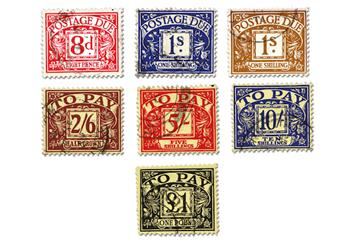 Pre Decimal Postage Due Collection Stamps 3