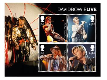 David Bowie Framed Collector Card minisheet