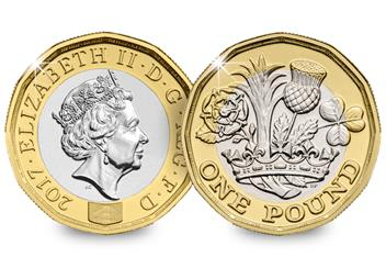 Nations of the Crown BU One Pound Coin