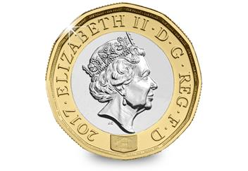 Nations of the Crown BU One Pound Coin Obverse