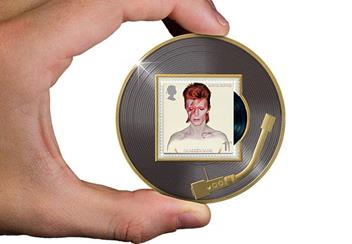 Legends of Music David Bowie Aladdin Sane Philatelic Medal in Hand
