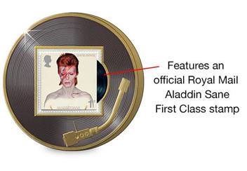 Legends of Music David Bowie Aladdin Sane Philatelic Medal Reverse