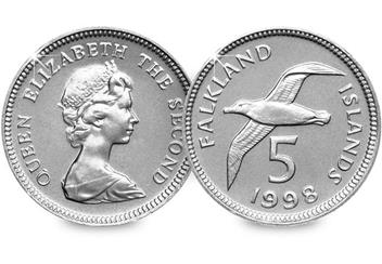 Falkland Islands 5 Pence Coin