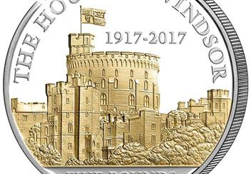 House of Windsor 100th Anniversary £5 Proof Coin Close Up