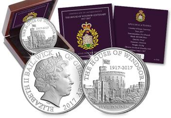 House of Windsor 100th Anniversary £5 Silver Proof Coin