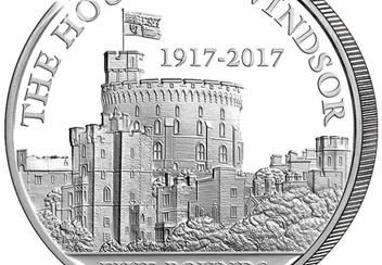 House of Windsor 100th Anniversary £5 Silver Proof Coin Close Up