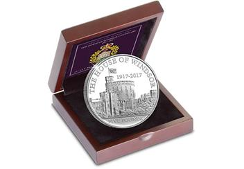 House of Windsor 100th Anniversary £5 Silver Proof Coin in Presentation Case