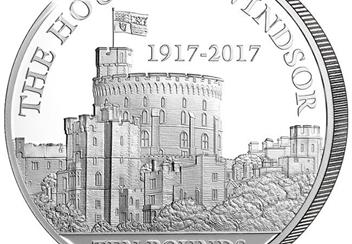 House of Windsor 100th Anniversary 5oz Coin Close Up