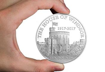 House of Windsor 100th Anniversary 5oz Coin in Hand
