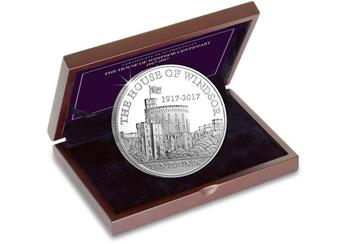 House of Windsor 100th Anniversary 5oz Coin in Display Case