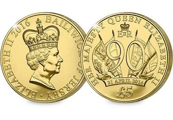 Queens 90th Birthday £5 Coin