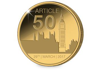 Article 50 Gold-Plated Medal Reverse