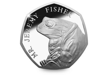 The 2017 Mr Jeremy Fisher Bu 50p Coin