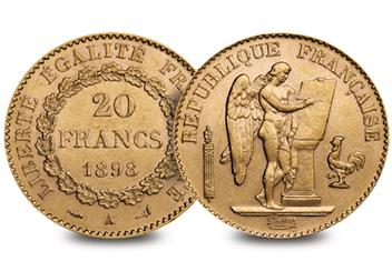 French 20 Francs Gold Lucky Angel Coin