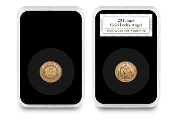 French 20 Francs Gold Lucky Angel Everslab