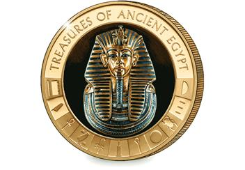 Ancient Egypt Tutankhamun Gold-Plated Coin Reverse