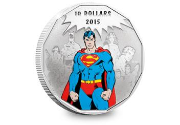 Full Colour Superman Coin Reverse
