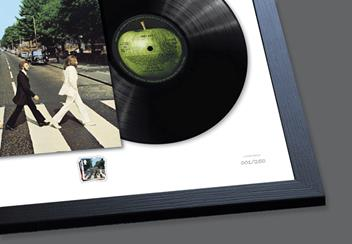 Abbey Road Stamp and Vinyl Frame