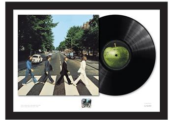 Abbey Road Framed Stamp and Vinyl