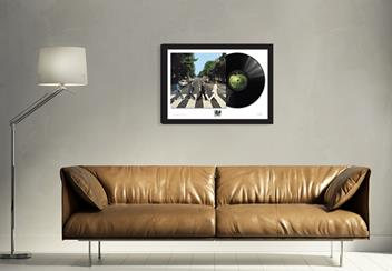 Abbey Road Frame above Sofa