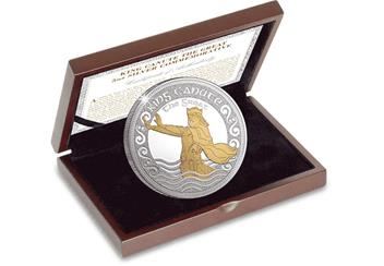 King Canute the Great 5oz Silver Commemorative in Display Case