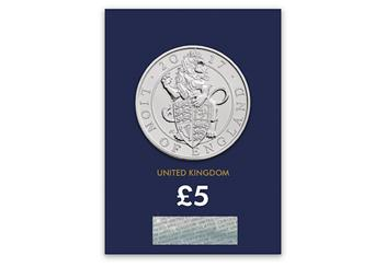 Lion-of-England-5-Pound-Coin-BU-Pack-Front