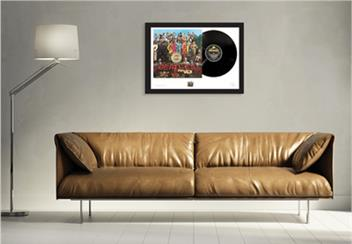 Beatles Sgt Pepper Stamp and Vinyl Framed Edition