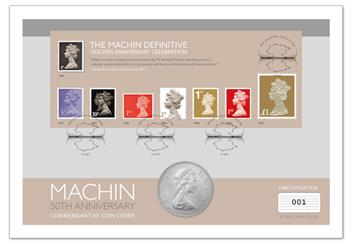 Machin  50th Anniversary First Day Coin Cover