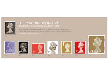 Machin 50th Anniversary First Day Coin Cover Minisheet