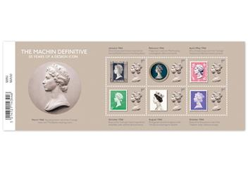 Machin 50th Anniversary Definitive Silver Coin Cover Minisheet