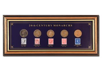 20th Century Monarchs Framed Image